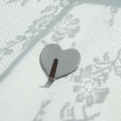 Silver Heart Hook - 2개