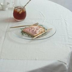 심플 라인 유리 접시_01: 글라스 플레이트,브런치 접시