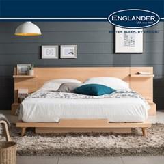 [잉글랜더]스미스 평상형 침대(NEW E호텔양모라텍스 7존독립매트-SS)