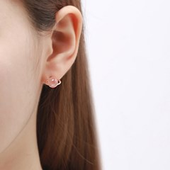 핑크골드 행성 귀걸이