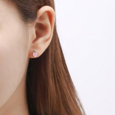 핑크골드 피치애플 귀걸이