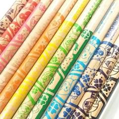 [수입 정품]귀여운 호빵맨 친구들 색연필12색-036433