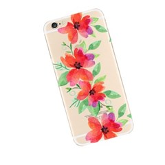 Watercolor Red Flower (JF-038A) Jelly Case