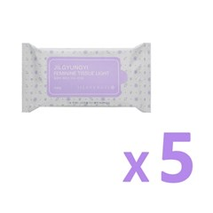 [질경이] 페미닌 티슈 라이트(10매입) X5