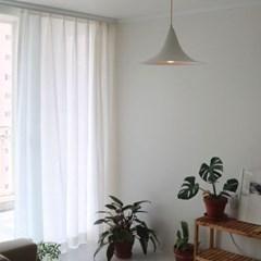 리에화이트나비주름린넨커튼
