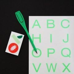 ALPHABET STICKER - Neon Green