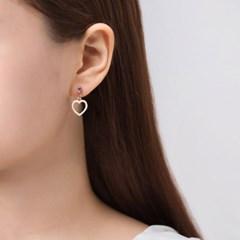 유니콘 하트 귀걸이