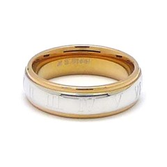 바스카 스틸 샤인 로마문자 반지