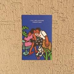 romantique postcard