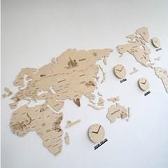 실크로드 세계지도 벽시계 (특대)