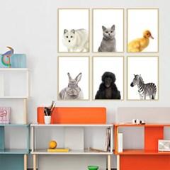 동물 포스터 아이방 인테리어 액자