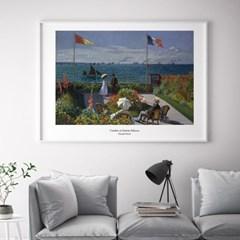 모네 인테리어 그림 액자 포스터 생트-아드레스의 정원_(1570328)