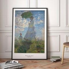 모네 인테리어 그림 액자 포스터 파라솔을 든 여인_(1570326)