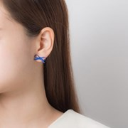 컬러 리본 귀걸이