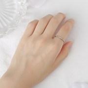 슬림 큐빅 체인 반지
