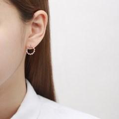 실루엣 큐빅 원 귀걸이