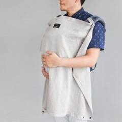 코니테일 수유가리개-라이트그레이(아기띠바람막이)