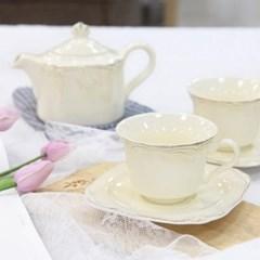 캥프카 로만 커피잔&소서