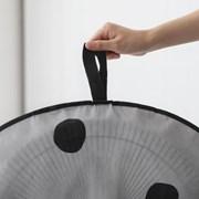 프리미엄 부직포 지퍼형 선풍기커버-블랙도트