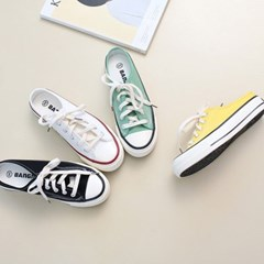 kami et muse Color canvas sneakers slippers_KM18s399
