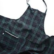 tartan check apron
