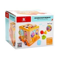 탑브라이트 원목 도형놀이 버스 퍼즐 장난감