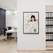 유니크 일본 인테리어 디자인 포스터 M 80s 씨티팝