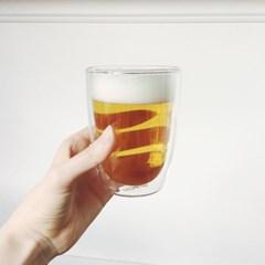 홈카페 이중 유리컵 (300ml,400ml)