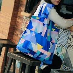 PT 패턴 쇼핑백 - 블루
