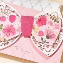 핑크 플라워 - 핸드메이드 카드