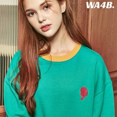 WASABI X DAMINI Collabo Basic Color Combo Embo Sweatshirt_Green