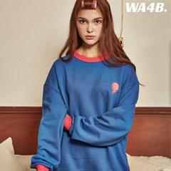 WASABI X DAMINI Collabo Basic Color Combo Embo Sweatshirt_Blue