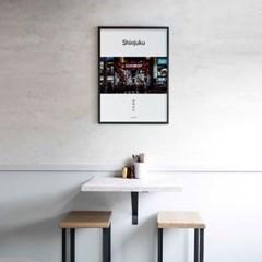 유니크 일본 인테리어 디자인 포스터 M 신주쿠 가부키초 일본소품