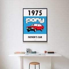 유니크 인테리어 디자인 포스터 M 포니 아빠차 레트로