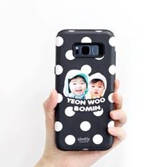 [키미티즈] 포토 휴대폰 하드케이스 (블랙도트)