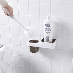 모던 욕실 청소솔 믹스 선반
