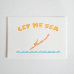 LET ME SEA 렛미씨 레터프레스 엽서 A