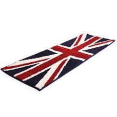 영국 유니온잭 샤기 주방매트 (40x120)