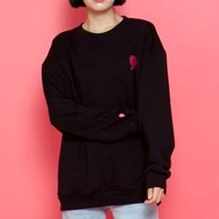 WASABI X DAMINI Collabo Basic Over-Fit Sweat shirt_Black