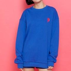WASABI X DAMINI Collabo Basic Over-Fit Sweat shirt_Cobalt Blue