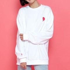 WASABI X DAMINI Collabo Basic Over-Fit Sweat shirt_White