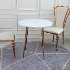 샤론 로즈골드 대리석 원형 테이블