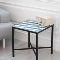 쥬디아 소파 사이드테이블(큐브 블루)