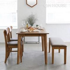 아바스토 원목 4인식탁세트 (의자2+벤치1)