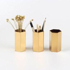 레트로 골드 연필 꽂이 1개