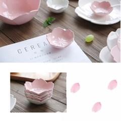 플레이팅 핑크로즈 샐러드볼 소 1개(랜덤)