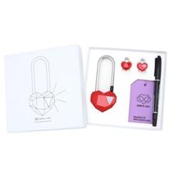 사랑의자물쇠 커플락 CL-1 프리미엄 레드
