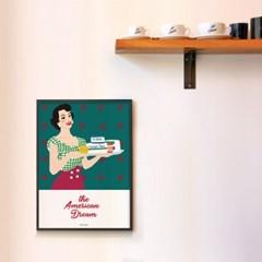 유니크 인테리어 디자인 포스터 M 아메리칸 드림