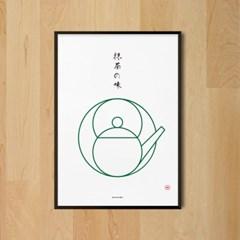 유니크 일본 인테리어 디자인 포스터 M 말차의 맛2 일식소품