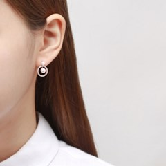 진주 블링 라운드 귀걸이